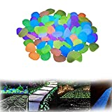 ZMMA 100 Piezas de Rocas Que Brillan en la Oscuridad, Decoraciones para Jardines, peceras, pasarelas de Plantas de Interior o entradas de vehículos, Color Mezclado