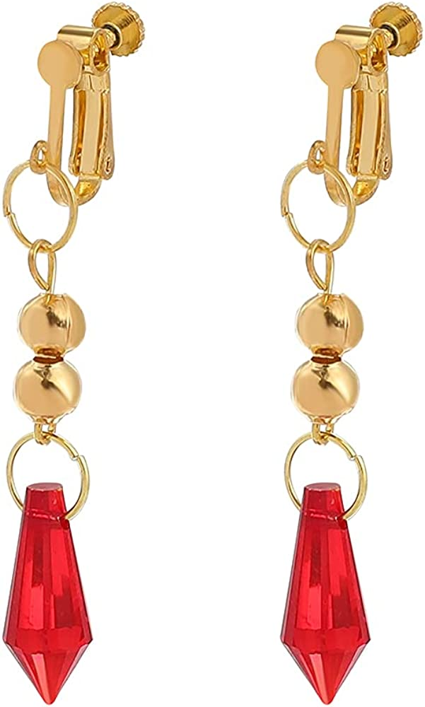 Genshin Impact Tartaglia Cosplay Earrings - Anime Game Hook Earrings Drop Dangle Earrings Cosplay Jewelry For Womens Girls
