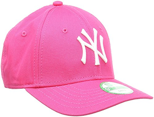 New Era Cap KIDS 940 LEAGUE BASIC NEW YORK YANKEES hot pink white (Youth Alter 6-10 Jahre)