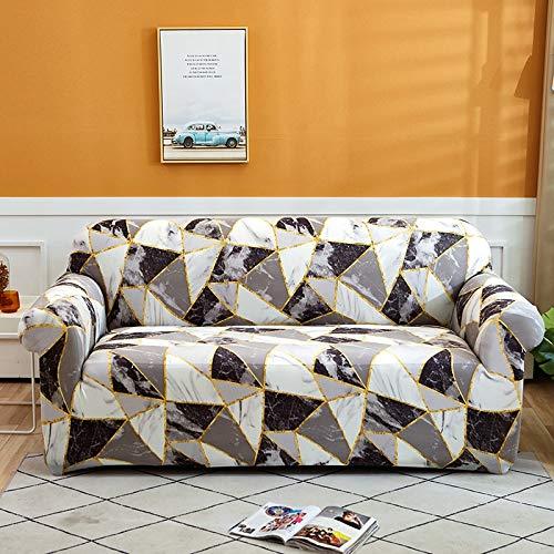 Housses de Protection de canapé imprimées pour Salon Housse de canapé Extensible élastique Housses de canapé d'angle sectionnelles A13 2 Places