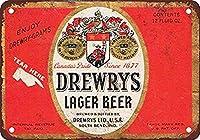 ドリューズラガービール 金属板ブリキ看板警告サイン注意サイン表示パネル情報サイン金属安全サイン