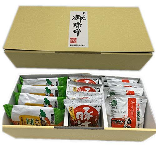 鶴味噌 フリーズドライみそ汁 白秋合わせ・豚汁柳川膳・野菜味噌汁(各4食入)(箱入)
