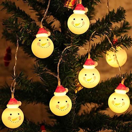 Hey tienda led santa claus cadena luces navidad luces decoración luces muñeco de nieve luces decoración decoración