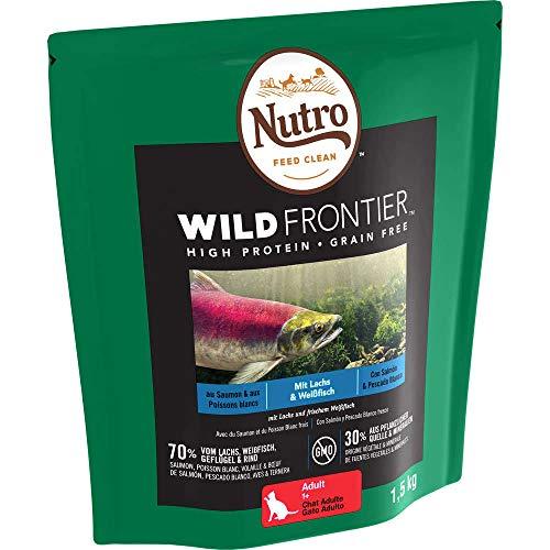NUTRO Katzenfutter Trockenfutter Wild Frontier Adult 1+ Mit Lachs & Weißfisch,1 Beutel (1 x 1,5kg)