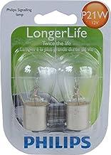 Philips P21W LongerLife Miniature Bulb, 2 Pack
