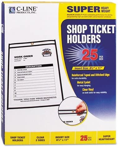 Shop Ticket Max 79% OFF Holders Stitched Both Sides Clear 1 11 8 2 x 25 Limited time trial price