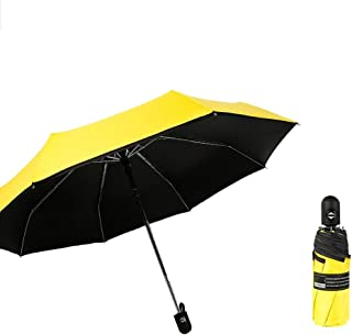 Pocket Umbrella Automatic Umbrella Folding Umbrella Sun Umbrella UV Protection Small and Portable, A Variety of Optional Gaozs (Color : Yellow)
