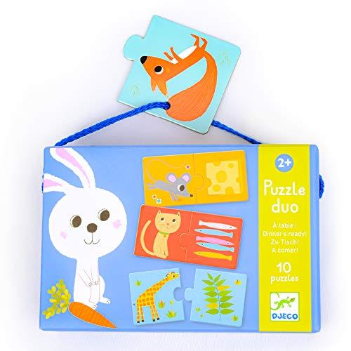 Djeco- Puzzle Cena Animales, Multicolor (DJ08166)