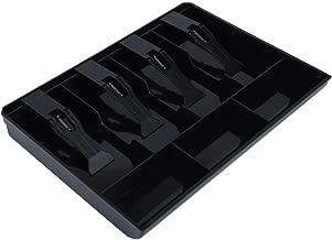 Caja del cajón del efectivo, Bandeja para cajón portamonedas 3 moneda 4 Bill Inserte (Negro)