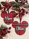 Bolas de Navidad Mickey Madera y Tela Hermosos Regalo para estas navidades