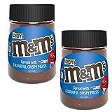 M&M - 2 botellas de chocolate con leche crujiente y avellana para untar (350 g)
