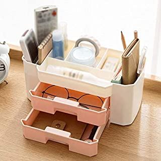 New Plastic Desktop Multi-layer Drawer Storage Box Household Cosmetics, Stationery And Sundries Storage Drawer Box (Color ...