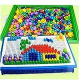 LAVALINK envasados-Box 296 Piezas/Set Cuentas del Clavo del Grano de la Seta Inteligente 3D Puzzle Jigsaw Juegos de Mesa para niños Juguetes educativos para niños