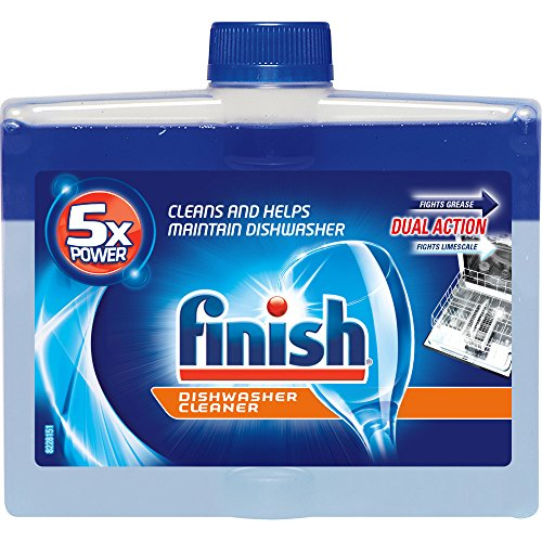 Finish Dual Action Automatic Dishwasher Cleaner, Fights Grease & Limescale, 8.45 Ounce