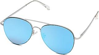 نظارة سوجوس كلاسيك افياتور للنساء والرجال عدسات عاكسة UV400 بإطار معدني عتيق SJ1030