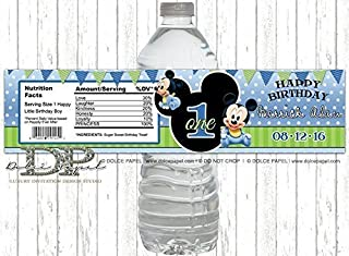 Best mickey mouse 1st birthday water bottle labels Reviews
