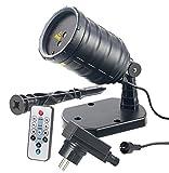Lunartec Projektor Weihnachten: Laser-Projektor mit Sternenregen-Lichteffekt, Fernbedien, Timer, IP65 (Laser Projektor Weihnachten)