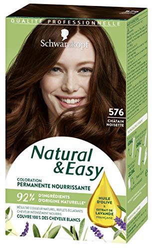 SCHWARZKOPF - Natural & Easy - Coloration Permanente Naturelle Cheveux - Châtain Noisette 576