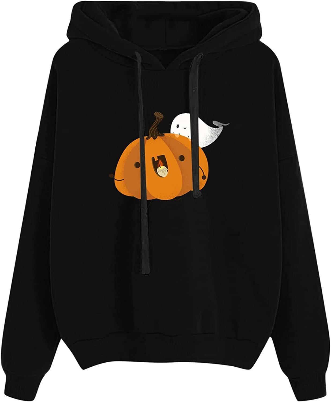 Women's Casual Halloween Hoodies Fashion Pri store Ghost Pumpkin Ranking TOP10 Funny