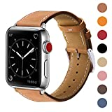 Marge Plus Compatible with Apple Watch Band 42mm 44mm, Genuine Leather Replacement Band Compati…