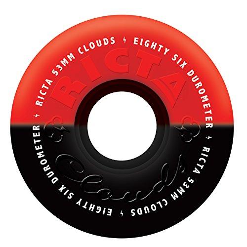 RICTA Clouds Gioco di 4Ruote per Skateboard Unisex, Unisex, RIWH042, Multicolore, 54mm