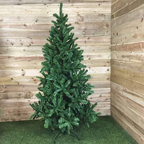 Samuel ALEXANDER Plain Green Artificial Christmas Tree (7ft (210cm))