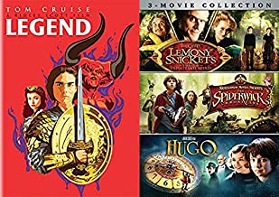 Enter a world of unicorns Fantasy Film Collection: Legend Limited Edition Pop Art Cover + Hugo / The Spiderwick Chronicles & Lemony Snicket's Series of Unfortunate Events DVD 4 movie Bundle