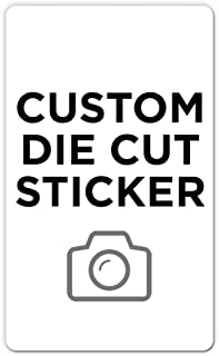 """250 Rectangle Custom Die Cut Stickers 3"""" x 5"""" for Laptops, Windows, Cell Phones, Cars. Upload Your own Image, Logo, or Des..."""