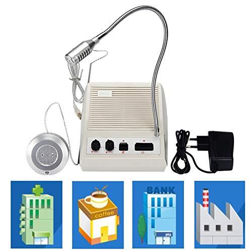 ZHANGRONG Intercomunicador Sistema De Interfono Teller Intercom Ventana Intercomunicador Bidireccional Ventanilla De Ventanilla De La Estación del Hospital del Banco Completamente Automatico