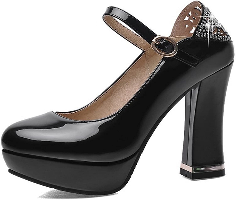 BalaMasa Ladies D Ring High-Heels Solid Soft Material Pumps-shoes