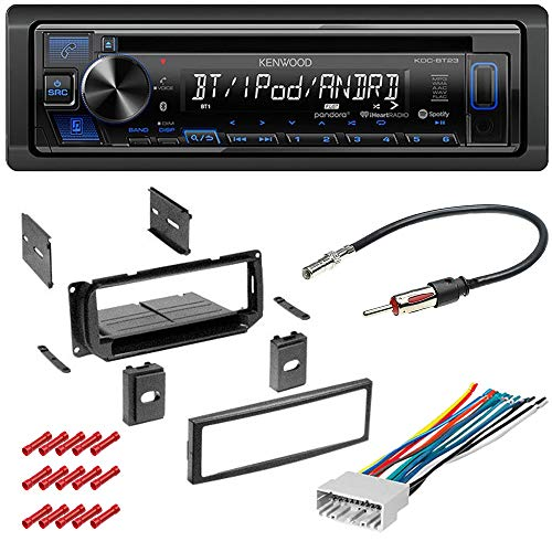 CACH/É KIT2887 Bundle W//Car Stereo with Bluetooth for 2000 2004 Ford Focus CD//AM//FM Single Din Radio Receiver Dual Phone Connection Front USB and AUX W//Dash Mounting Installation Kit
