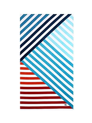 Lacoste Wave2 Strandtuch, 100% Baumwolle, 91 x 183 cm, abstraktes Grün