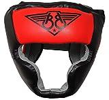 BOOM Prime Red Leder Boxen Kopfschutz Helm...