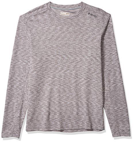 Hi-Tec - Camiseta de Manga Larga para Hombre, Hombre, H7F9K540-21-L, Gris, Large