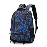 School Backpack, Ricky-H Lifestyle Travel Bag for Men & Women, Lightweight College Back Pack with Laptop Compartment-Hexagon Blue&Pink