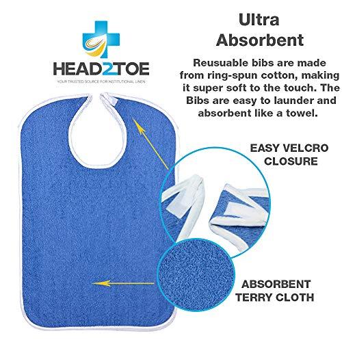 Head2Toe Terry Cloth Bibs