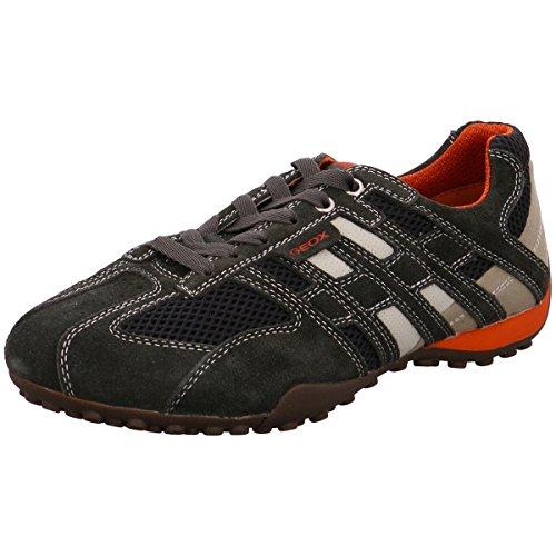 Geox U1107M02214C1300 - Tobillo bajo de Cuero Hombre, color Negro, talla 46 EU