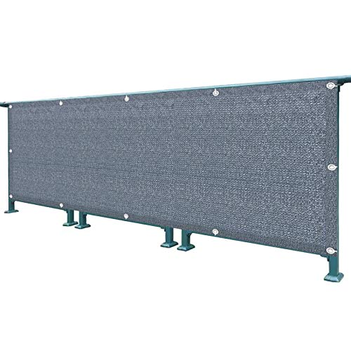 WUZMING Pantalla de Privacidad para Balcón Valla de Red 90% Bloqueo Respirable Protección UV, con Cuerda & Bridas Encaja Barandillas Apartamentos, Terraza del Patio, o Cubiertas