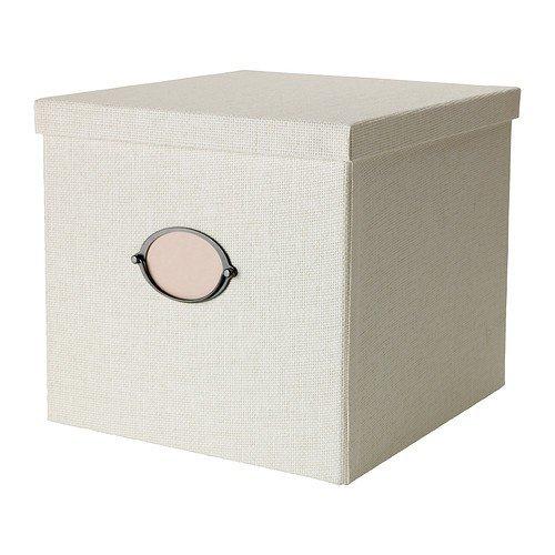 Ikea KvarNVIk - Caja con tapa (32 x 35 x 30 cm), color blanco