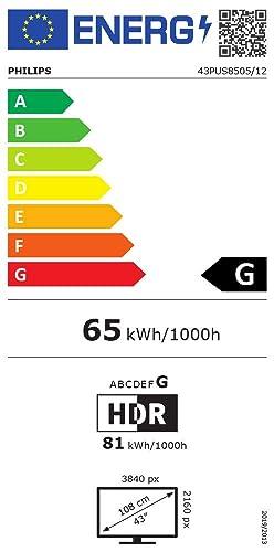 Etiqueta de eficiencia energética Philips 43PUS8505