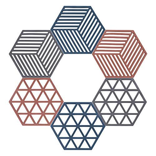 Topfuntersetzer Rutschfeste Untersetzer Multi-Use Rhombus Untersetzer für Schüssel Geschirr Küche Esszimmer 6 Stück