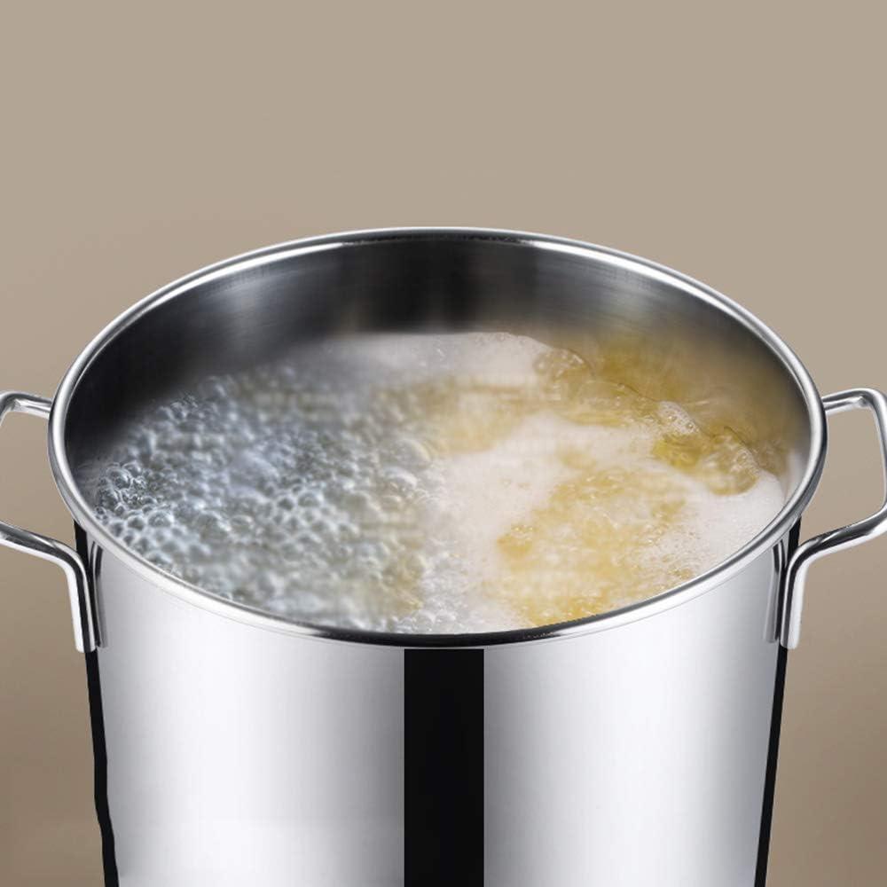 GL-kitchen supplies Baril en Acier Inoxydable Baril Rond Commercial épaissi Baril avec Couvercle Baril Grand Pot à Huile Baril ménage Seau Baril de Riz Multi-usages G