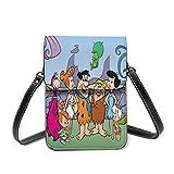 AOOEDM TV Show-Flintstone borsa per telefono in pelle leggera, borsa da donna multicolore piccola borsa a tracolla mini borsa a tracolla per cellulare con tracolla regolabile
