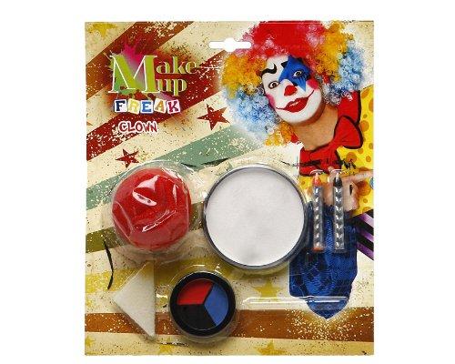 Atosa 8422259143437 Kit de maquillage Clown avec accessoires, 23 x 20 cm