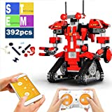 Mould King Remote Control Building Block Robot Set for Kids Intelligent Building Kit 6-13 Years Old Boys Girls Gift (Red)