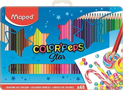 Maped M832058 - Kleurpotloden Color'Peps voor volwassenen in metalen doos, meerdere kleuren, 48 stuks