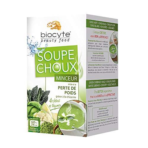 Biocyte - Soupe aux Choux Minceur - Aide à la perte de poids grâce à la chicorée - 12 x 9 g