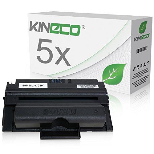 5 Toner kompatibel zu MLD-3470B/ELS für Samsung ML-3470, ML-3471ND, ML-3475ND - Schwarz je 10.000 Seiten