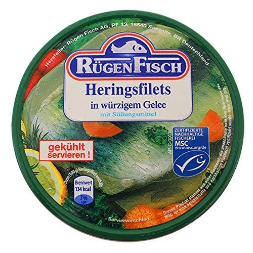 2er Pack Rügen Fisch Heringsfilets in würzigem Gelee (2 x 200 g), Heringsfilets in Aspik