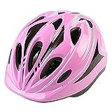 Casco de Bicicleta para niños Casco Deportivo Protector de Cabeza Ajustable y Transpirable Cascos de Patinaje en Bicicleta para niños y niñas de 7 a 12 años Casco Ligero, 49-59 cm (Rosa)